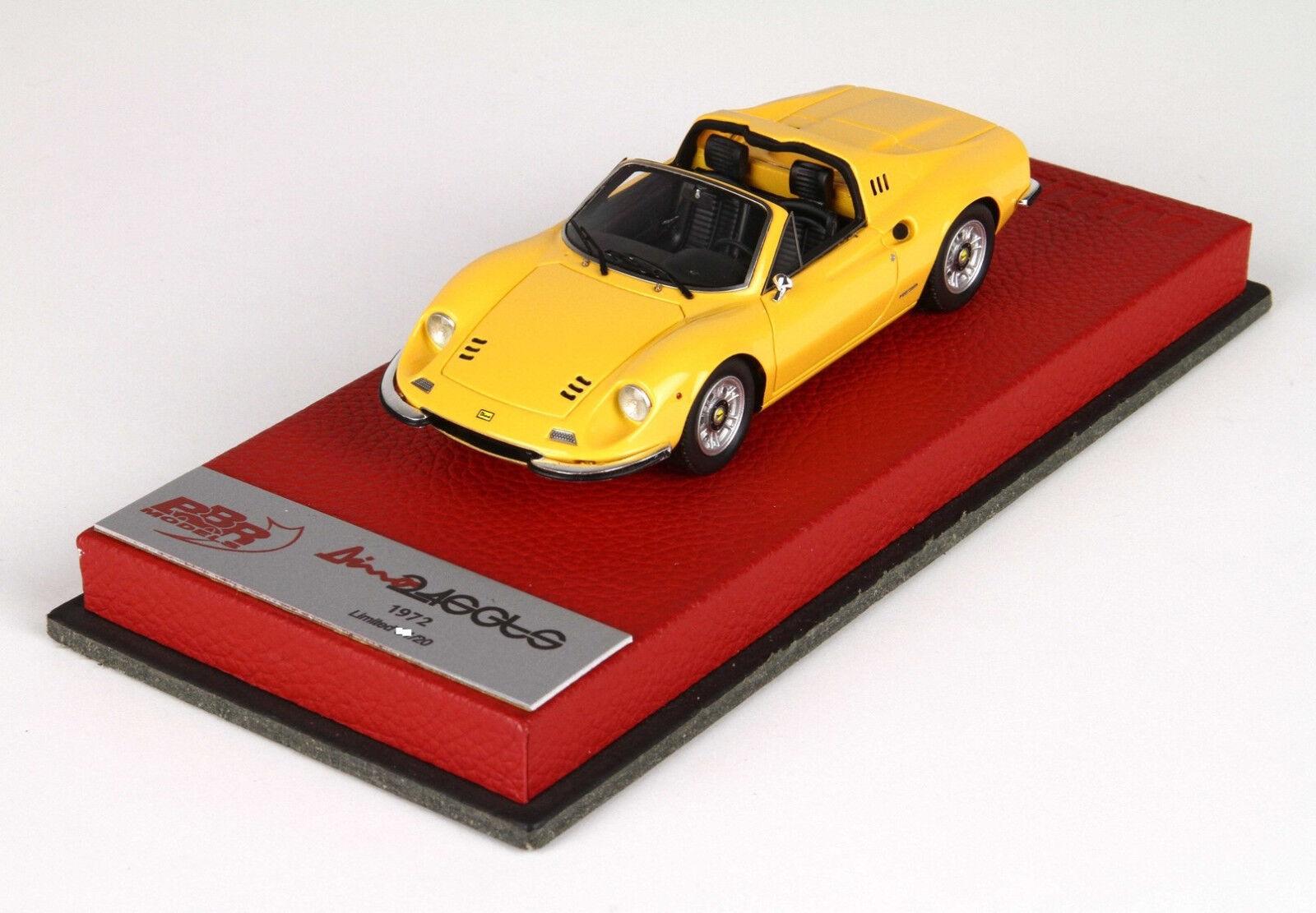 Ferrari Ferrari Ferrari Dino 246 GTS 1972 yellow Modena 1 43 lim.ed.20pcs BBRC54BPRE BBR a15715