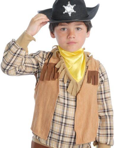Boys Childrens Cowboy Indian Waistcoat Vest Fancy Dress Costume Outfit Accessory