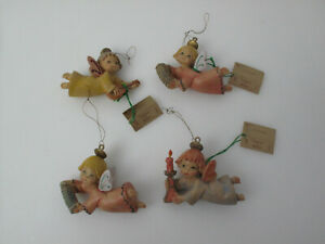 Fontanini-by-Roman-Christmas-Ornament-Angel-Holding-Candle-amp-musical-instruments