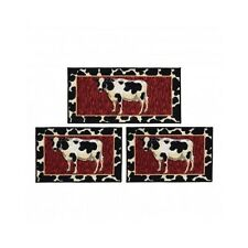 Country Kitchen Rugs and Mats Home Rustic Decor For the Fireplace Hearth Set 3