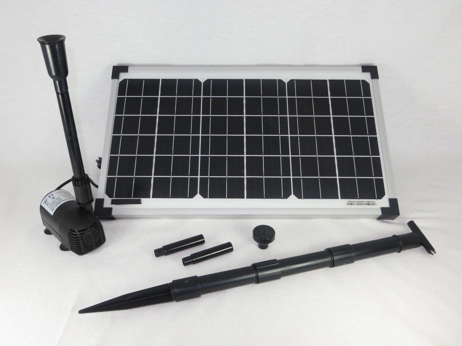 Solar pumpenset watersplash 1350 solar bomba bomba estanque sumergible bomba de jardín