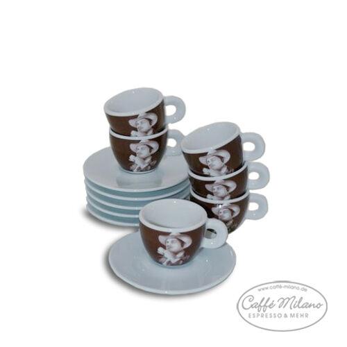 Lucaffe  Le Parrain  Espresso Tasses - 6 pièces-Caffe Milano