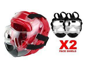 Karate Taekwondo Face Shield Clear Face Mask Cage for Martial Arts Head gear-NEW