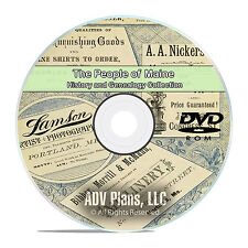 Maine ME, People, Civil War Stories, History and Genealogy 121 Books DVD CD B04
