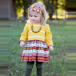 Toddler-Kids-Baby-Girls-Thanksgiving-Flower-Lace-Party-Sundress-Outfit-Clothes
