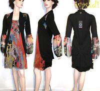 SAVE THE QUEEN bohemian M Woodland silk CHIFFON black VEST dress NWT Authentic!
