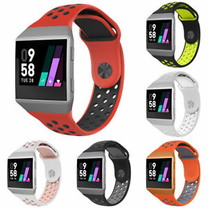 For-Fitbit-Ionic-Replacement-Dual-Color-Silicone-Wrist-Band-Watchband-Strap-Flow