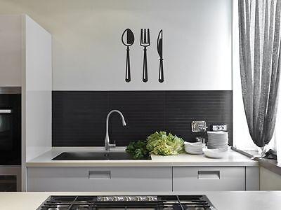 Cutlery Kitchen Sticker Wall Art Decor Mural Decal Transfer DIY Decor Dinning