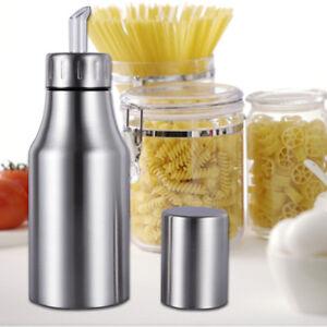 Image Is Loading Kitchen Stainless Steel Olive Oil Vinegar Sauce Jar