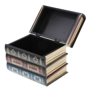 Antique-Book-Shaped-Jewelry-Display-Box-Home-Storage-Case-Table-Organizer-S
