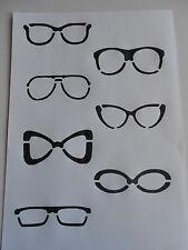 Schablone Brillen auf A4