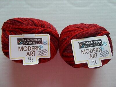 Schachenmayr Nomotta Modern Art knit ribbon yarn lot of 2 black//brown