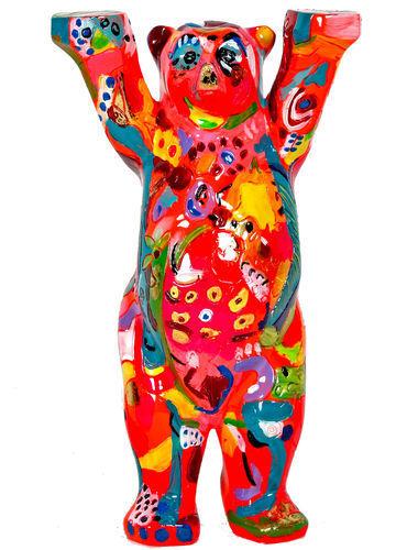 BUDDY BEAR BERLIN Little Rainbow NEU//OVP 22cm Glasplatte Bunter Deko Design Bär