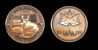 James Naismith Inventor of Basketball Canada 150 Medal Silver Plate Only 50 Made