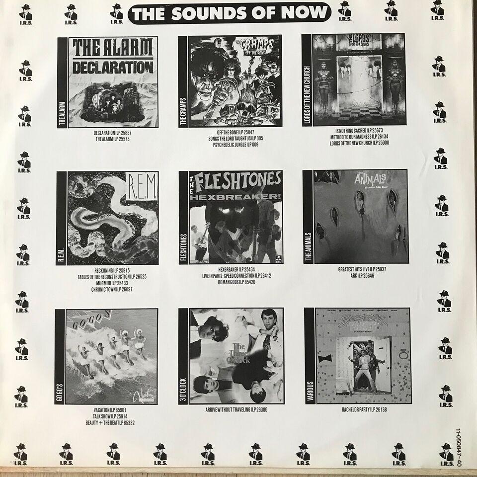 LP, Forskellige I. R. S. bands (REM, The Alarm...)