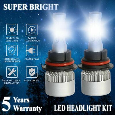 Pair 9007 COB LED Headlight Bulbs 2000W 300000LM Conversion Kit 6000K High Power