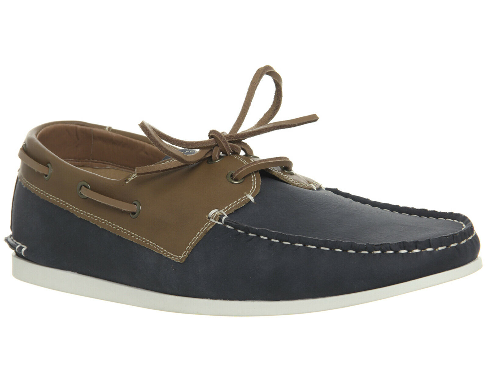 Office Floats Your Boat Navy bluee Leather Mens  Lace Up shoes Size uk 12