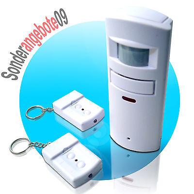 PIR BEWEGUNGSMELDER mit 2x Fernbedienungen PIR Sensor ALARMANLAGE SAFE ALARM