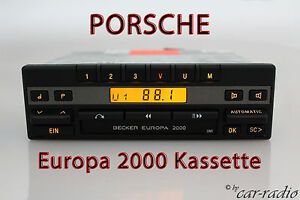 Porsche-Radio-Becker-Europa-2000-BE1100-Kassette-Oldtimer-Youngtimer-Autoradio