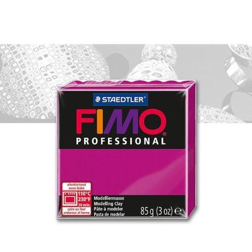 2,51€//100 g Fimo Professional 210 echtmagenta ofenhärtende Modelliermasse 85g