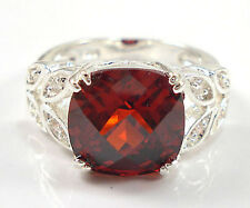 Elegant Woman 2.95ct Garnet 925 Silver Wedding Party Ring Size 6
