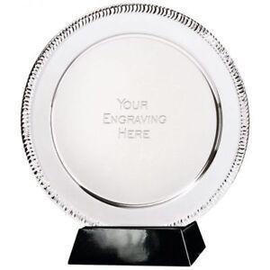 Présentation nickelé SALVER Gravure gratuite en 4 tailles sur un socle ou Box