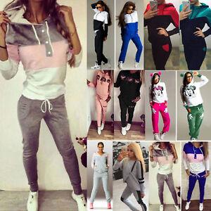 Women-2Pcs-Hoodie-Tracksuit-Hooded-Sweatshirt-Pants-Set-Sports-Casual-Sweat-Suit