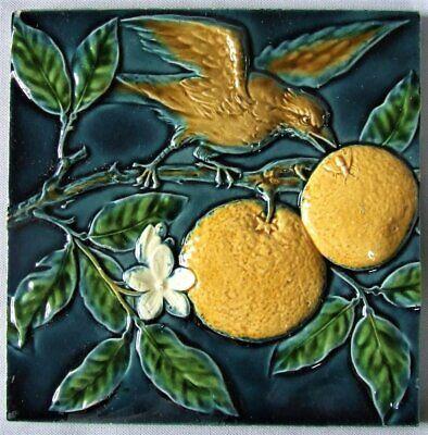 German Art Nouveau Vintage Ceramic Tile Rare Reproduction Fliese Majolica