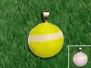 Real Tennis Ball Necklace Pendant - Handmade From a Yellow or Pink Tennis Ball
