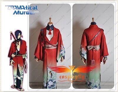 DMMD Dramatical Murder Cosplay Koujaku Costume Red Kimono Custom Size C0291