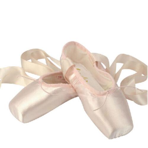 Sansha Pink Ballet Dance Toe shoes Professional Ladies Satin Pointe Shoes Silk