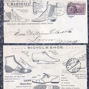 Cool-1893-ADVERTISING-COVER-Shoes-BASEBALL-TENNIS-BICYCLE-Nice-Graphics-Mass