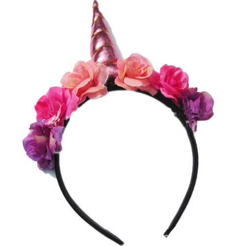 Magical Unicorn Horn Head Party Kid Hair Headband Fancy Dress Cosplay Hairband