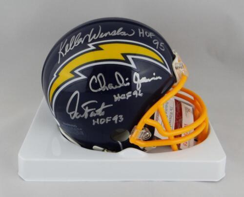 JSA W Auth *S Fouts Winslow Joiner Autographed Chargers TB Mini Helmet w// HOF