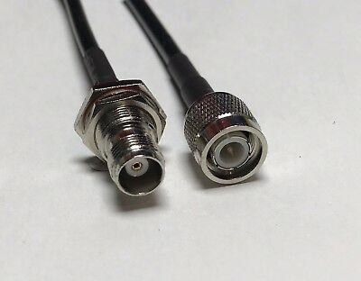 RG58 TNC MALE to TNC FEMALE NUT BULKHEAD Coaxial RF Pigtail Cable ships from USA