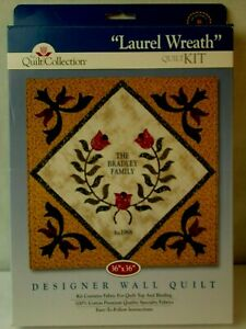 Laurel-Wreath-The-Quilt-Collection-Complete-Kit-36x36-Quilt-or-Wall-Hanging