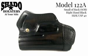 SHADO-Leather-Holster-Standard-Model-122A-Right-Hand-Black-fits-H-amp-K-USP-40