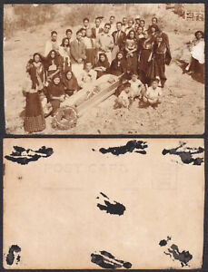 Philippines FILIPINO FUNERAL Real Photo RPPC Vintage Postcards