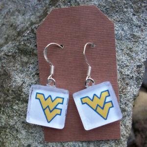 Details About West Virginia Earrings Ncaa University Mountaineers Wvu 12