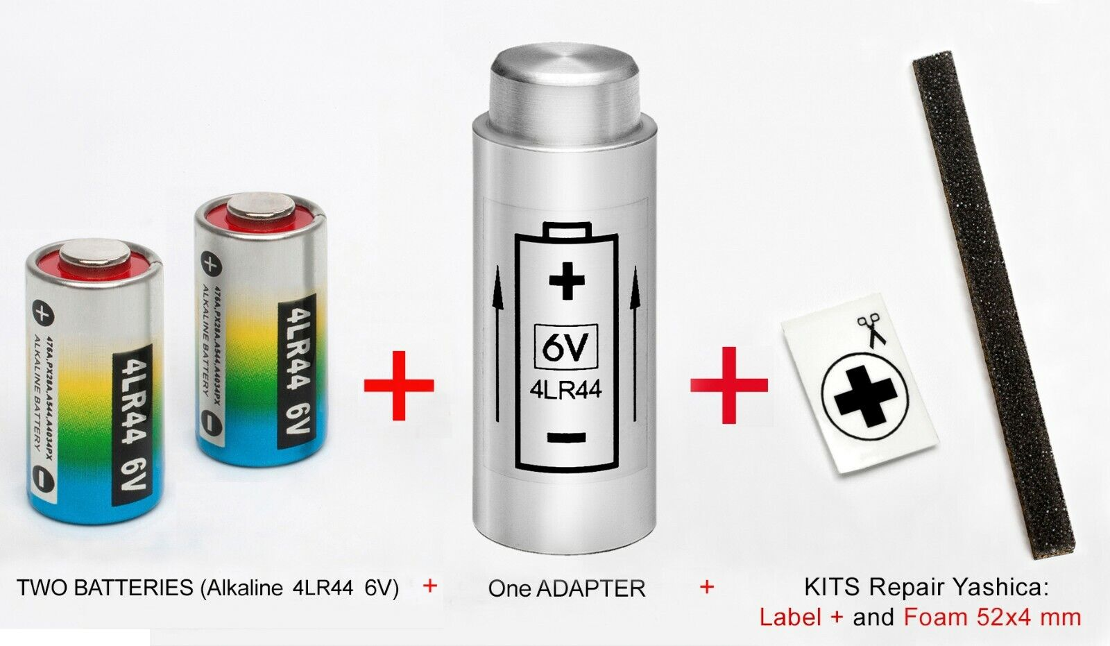 ADAPTER + 2 BATTERIES + KIT: YASHICA ELECTRO 35 G, GT, GL,...
