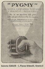 Z2300 PYGMY la nuova lampadina tascabile - Pubblicità 1928 - Vintage advertising