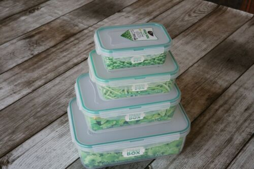 4-Pieces Set Microwave Safe 5.1 L  PlastArt315 Fresh Box Airtight Rectangular