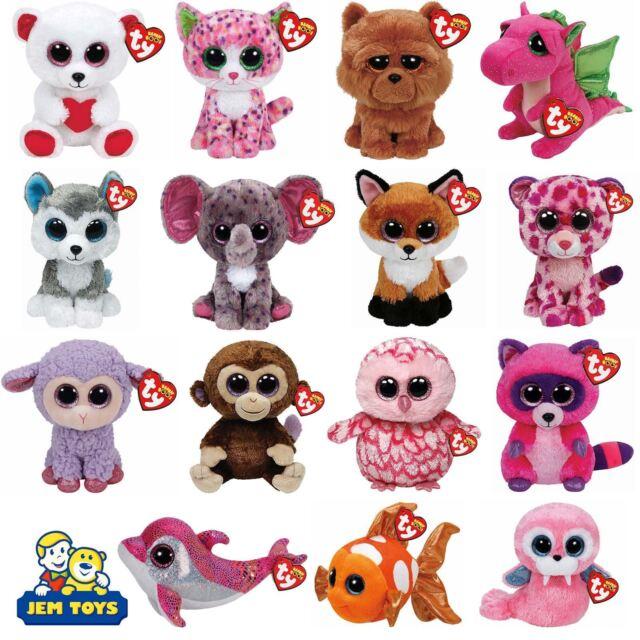 TY Beanie Boos 6 inch - TY Boo Plush Teddy - Brand New Soft Toys