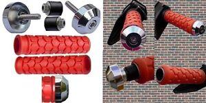 SEADOO-BOMBARDIER-WATERCRAFT-3D-GTI-GTS-GTX-SP-XP-PWC-RED-GRIPS-CHROME-BAR-ENDS