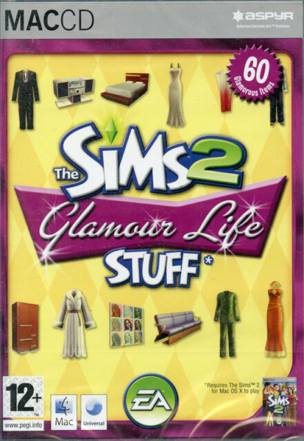 The Sims 2 Glamour Life Stuff Expansion pack Mac OS 10.3.9 game New & Sealed