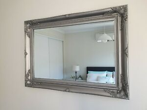 French-provincial-baroque-antique-silver-beveled-wall-mirror-102cm-x-72cm