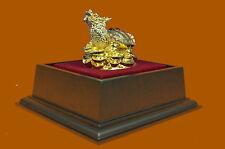 China handwork carved Bronze silver Gild Foo Dog Dragon Beast Bird statue 24K