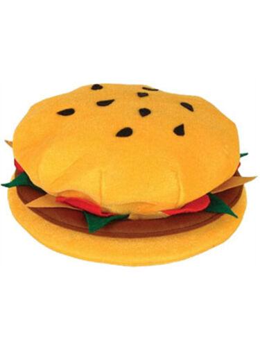 New Plush Hamburger Cheeseburger Hat Costume Party Cap