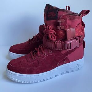 Details about Nike Women's Size 6.5 Special Forces Air Force 1 Hi Top Red  Crush 857872-601