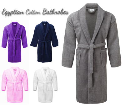 Unisex Luxury Pure Cotton Terry Towelling Bath Robe Dressing Gown Towel Night Duftendes Aroma